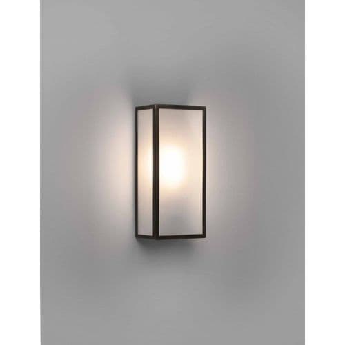 Astro 1183026 Messina 160 Frosted II Outdoor Wall Light Bronze